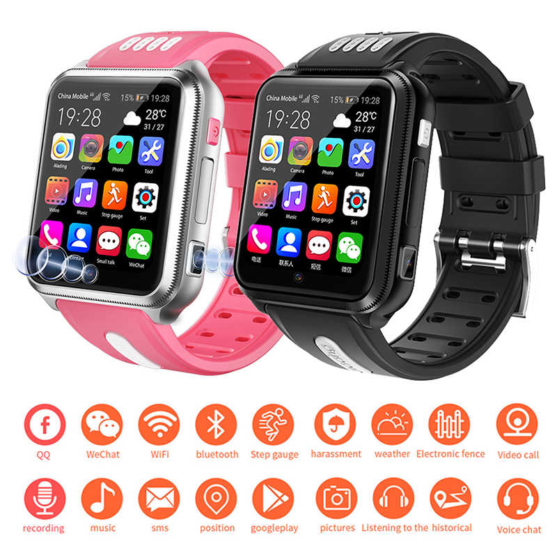 4G Children's Smart Watch H1 Android Phone Kids SmartWatch With Sim Card And TF Card Dual Camera Wifi Watches PK Q50 Q90
