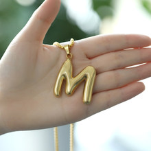 Alphabet Pendant Necklace For Men Tatinum Female Accessories Gold Initial Grandes Collares De Moda 2019 Capital 26 Letter Choker(China)