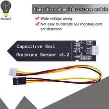 Pojemnościowy czujnik wilgotności gleby moduł niełatwy do korozji szeroki przewód napięciowy 3.3 ~ 5.5V odporny na korozję W/ Gravity for Arduino