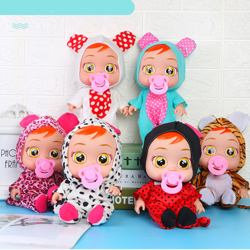8/10 Inch Tear Up Baby Dolls Animal 3D Crying Baby Toy Drinking Water Cute Speaking Magic Doll Toys For Children Surprise Gifts