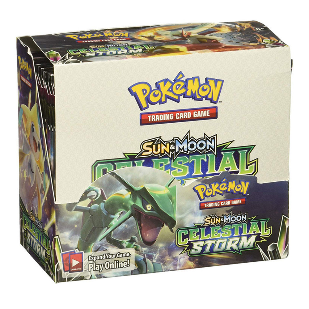 324pcs Cards Pokemon TCG: Sun & Moon Celestial Storm 36-Pack Booster Box Trading Card Game Kids Collection Toys