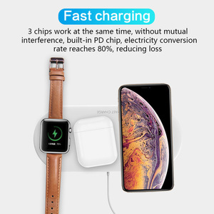 Image 3 - 3 in 1 Portable Wireless Charger for iPhone 11 Samsung S8 Fast Wireless Charging Pad for Apple Watch iWatch 4 3 2 1 for Airpods