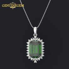 Изысканное серебряное ожерелье jeweэпидная Бижутерия 925 длинное