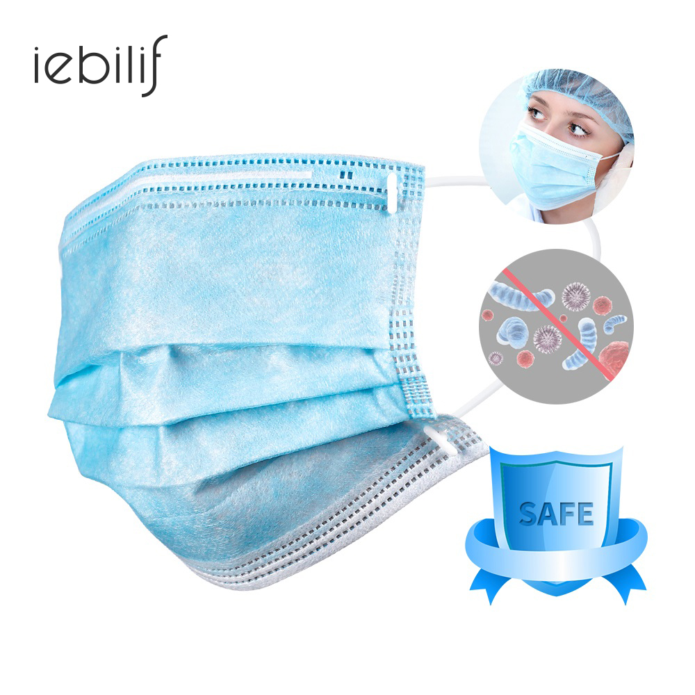 25pcs 3-Ply Disposable Facial Protective Mask Dust-proof, Sterile, Portable, Earloop Face Mouth Masks Unisex Off The Shelf