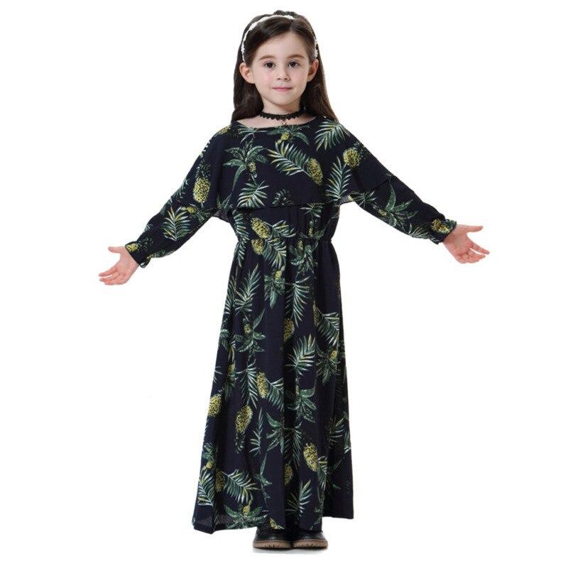 Kids Islamic Dress Muslim Children Abaya Dresses Girl Long Dress Turkeys Kaftan Dubai Dress Pakistani Indonesia Bangladesh