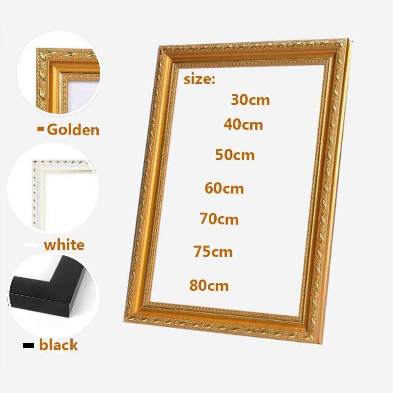 Рамка из пенополиуретана, черные, белые, золотистые фоторамки для фотографий, рамка для декора, холст, живопись, настенное искусство для фот...