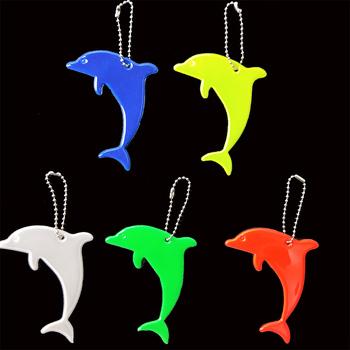 Hurtownie 100 sztuk zwierząt delfin odblaskowy breloczek torba wisiorek akcesoria o wysokiej widoczności breloki dla ruchu widoczne bezpieczeństwa tanie i dobre opinie IJALO Brak TRENDY Wszystko kompatybilny Unisex Breloczki Moda reflective keychain