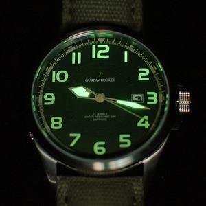 Image 5 - GB 1963 męski automatyczny zegarek mechaniczny NH35 Sport Super Luminous Special Forces wojskowy Pilot mężczyźni zegarki zegar z kalendarzem