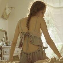 섹시한 새틴 잠옷 여성용 스프링 캐미솔 스트랩 속옷 세트 슬링 v 넥 탑스와 반바지 잠옷 가정 의류