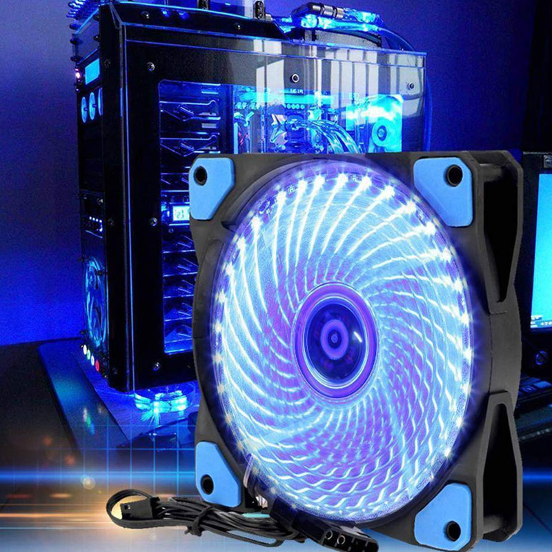 1/2Pcs <font><b>120mm</b></font> PC Case <font><b>Cooling</b></font> <font><b>Fan</b></font> Super <font><b>Silent</b></font> Computer LED High Airflow Cooler <font><b>Fans</b></font> NC99 image