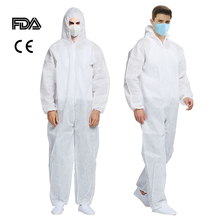 Breathable Disposable Coveralls Isolation Suit Safety Protective Clothing Jackets Hooded Dust-proof Coveralls Antistatic