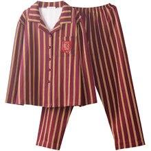 Potter hermione hogwartss slytherin casa usar pijamas de inverno pijamas de verão para adulto criança pijamas listra cosplay traje
