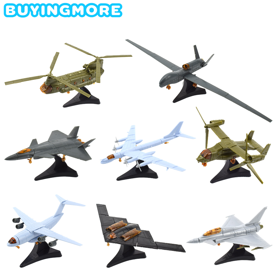 1 PCS Mini Assemble Fighter Model Kit Toys for Boys Military Building Blocks Handmade Assembly Aircraft Model Toy Gifts for Kids image
