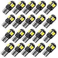 Bombillas LED Canbus para Interior de coche, luz de estacionamiento, lámpara de señal automática, 20 piezas W5W T10, 5730, 8SMD, 12V, 6000K, 194, 168