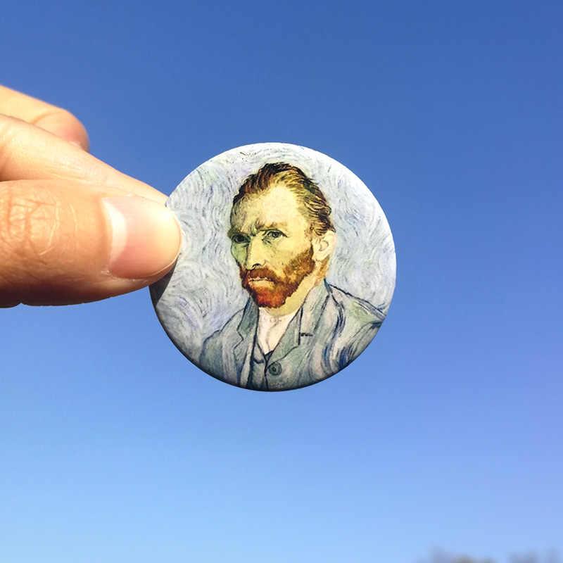 Nengdou T4 Van Gogh obraz olejny odznaka broszka dla kobiet przypinki na klapę metalowa plakietka plecak ikona wyroby dekoracyjne DIY na ubrania