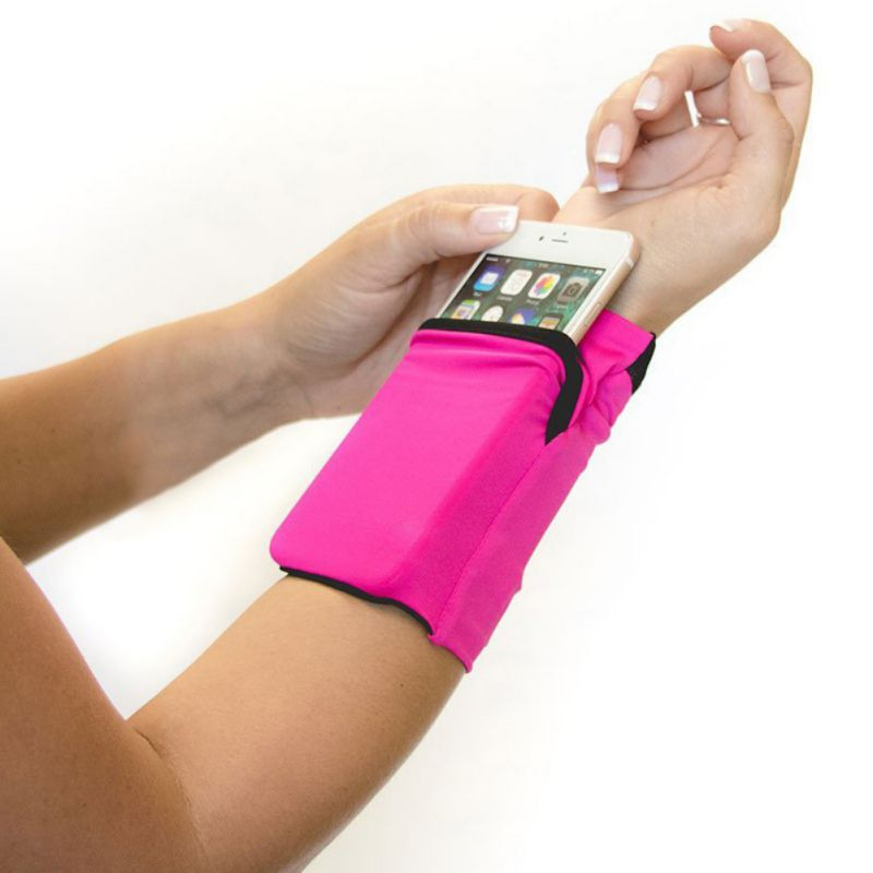 New Arm Bag Ultra-thin Anti-slip Wristband Wrist Armband Phone Pouch Holder Sports Bags For Fitness Running Cycling