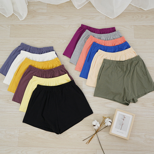 Loose Soft Cotton Spandex Shorts Black Blue Casual Running Summer Women Pockets Shorts Workout Wear Plus Size M30182