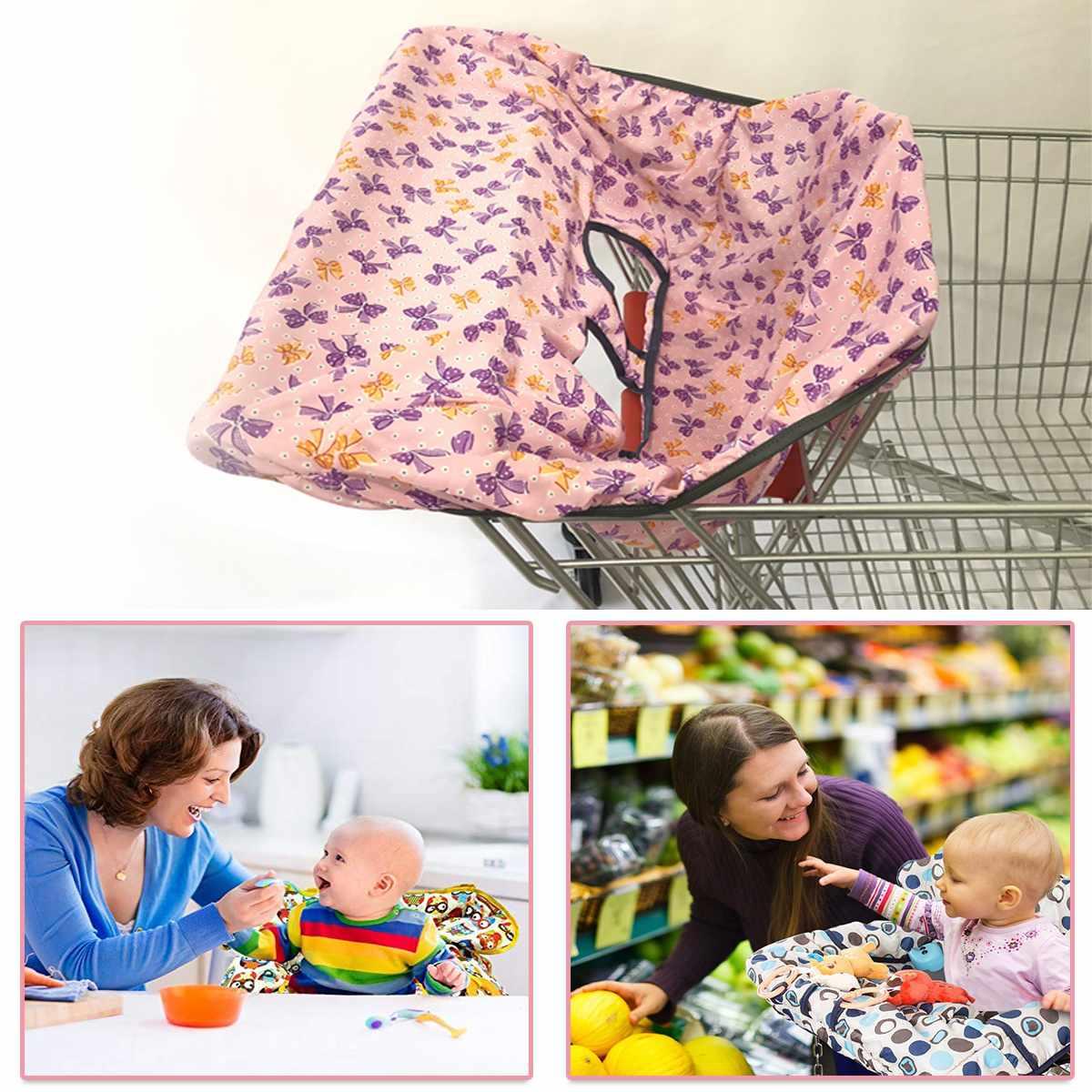 Детская продуктовая тележка для малышей, детская тележка для покупок, Защитная крышка для тележки, защита сиденья, безопасные сиденья для детей