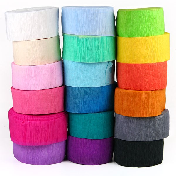 30ft 9m Length Crepe Paper Streamers Roll Bunting DIY Paper Garland Photography Backdrops For Wedding Birthday Party Decoration