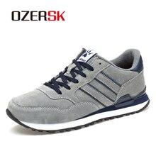 OZERSK marque automne hiver hommes confortable vache daim chaussures mode baskets mâle haute qualité concepteur casual chaussures hommes chaussures