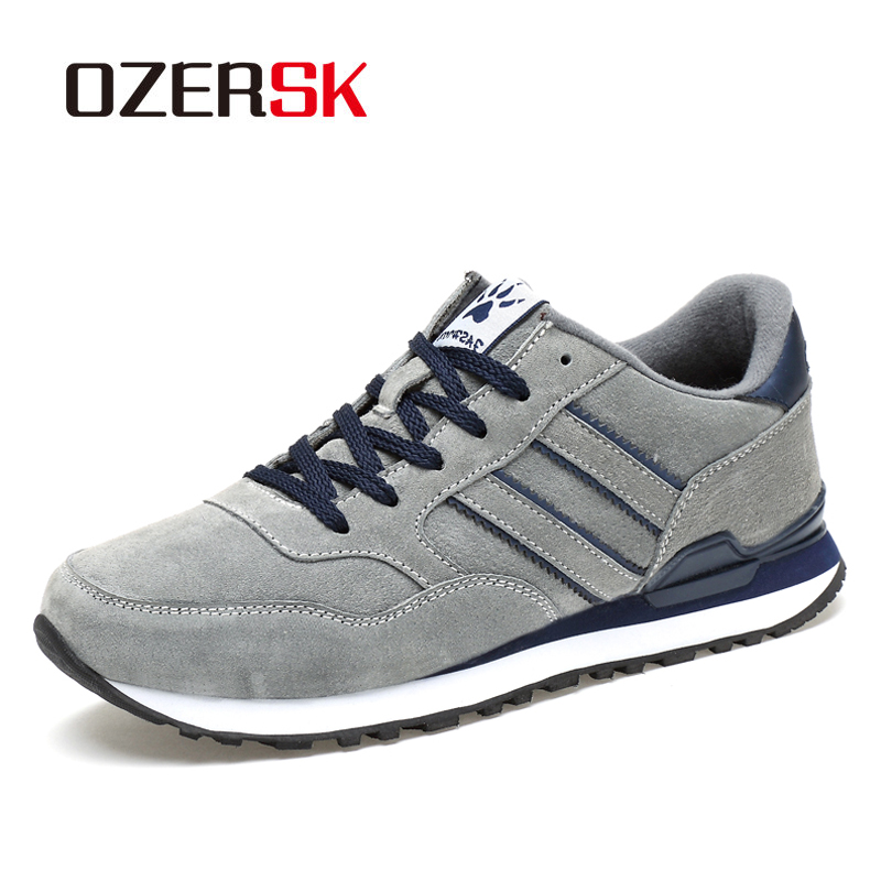 OZERSK ブランド秋冬メンズ快適な牛スエード靴のファッションスニーカー男性高品質デザイナー因果靴男性靴メンズカジュアルシューズ   -