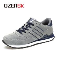 OZERSK מותג סתיו חורף גברים נוח פרה זמש נעלי אופנה סניקרס זכר באיכות גבוהה מעצב סיבתי נעלי גברים נעליים