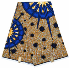 Dutch veritable wax Ankara African prints fabric 100% cotton Nigeria wrapper printed pattern 6 yards