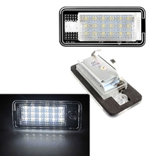 2pcs 18 LED 6500K License Number Plate Light Lamp For A3 S3 A4 S4 A6 C6 A8 S8 Q7