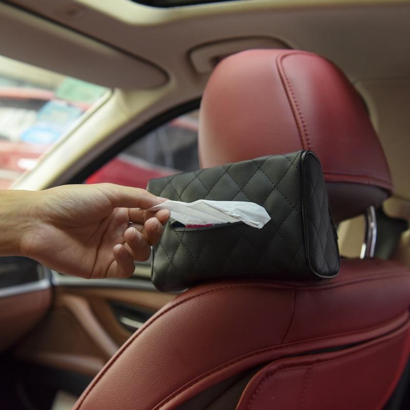 Обычная кожаная тканевая сумка на заднее сиденье автомобиля