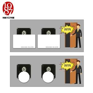 Image 3 - RFID prop room escape avventuriero gioco prop rfid prop mettere quattro ic schede in un unico per una relazione per sbloccare con audio JXKJ1987