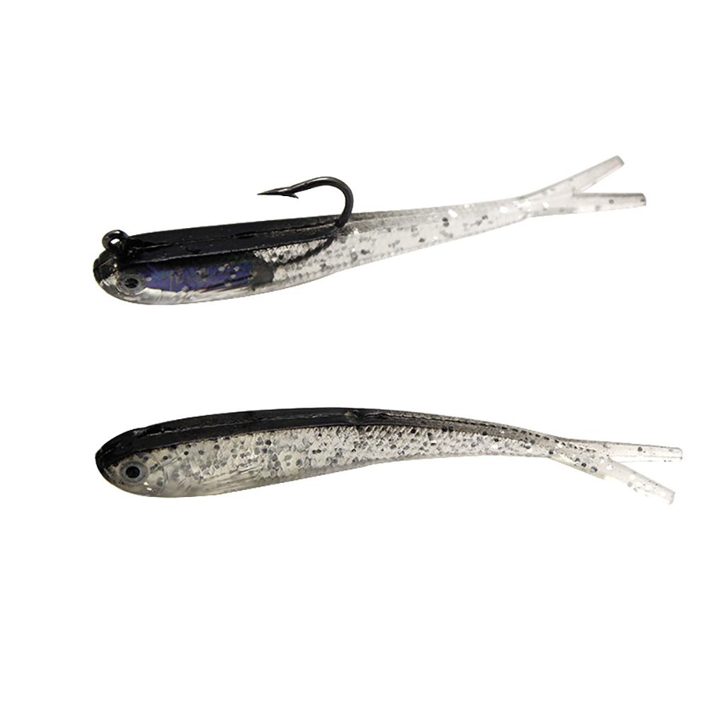 7.5cm Soft Lure Silicone Swimbaits Artificial Soft Bait Fish Tail Wobblers Shad Bass Pike Carp Flying Fishing Lure Jig Head