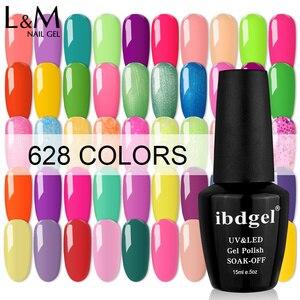 Image 1 - Ibdgel pulidor de uñas brillante, esmalte de uñas en Gel UV bonito, 15ml, 12 Uds.