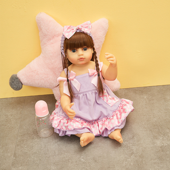 Hoomai Lifelike Reborn Babies Girl Doll 55 cm Silicone Full Body Vinyl Beautiful Alive Toy Baby Dolls For Kids Christmas Gifts fashion dollmai bebe reborn dolls 3 4 silicone babies 58cm very beautiful girl for children xmas gifts realistic simulation toy