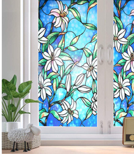 LUCKYYJ Privacy Window Film Stained Glass Non-Adhesive Frosted Decorative Static Cling Stickers