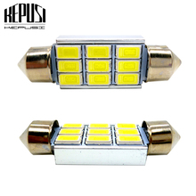 цена на 2x 31mm 36mm 39mm 41mm 5630 SMD LED Festoon Bulb C5W Car Dome Light Canbus No Error Auto Interior Reading Lamp 12V White