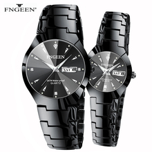 FNGEEN Series Christmas Couple Stainless Steel Luxury Women