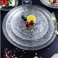 Стеклянная тарелка для десертного салата салатная миска супа