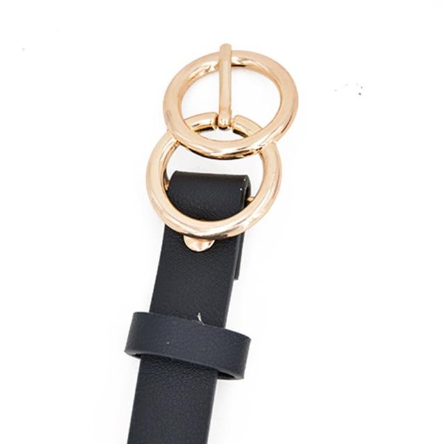 Women's PU Leather Belt Double Buckle Waist Belts For Women Lady Jeans Strap Waistband Fashion & Designs Women's Belt Women's Fashion