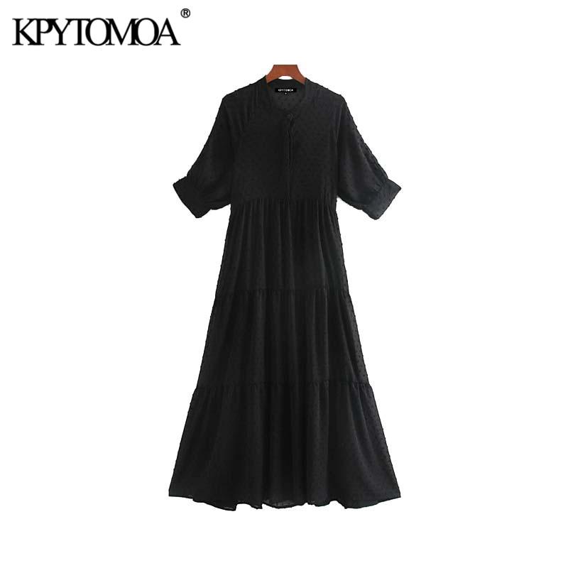 Vintage Elegant Dot Chiffon Pleated Midi Dress Women 2020 Fashion Short Sleeve Two Pieces Sets Female Dresses Vestidos Mujer