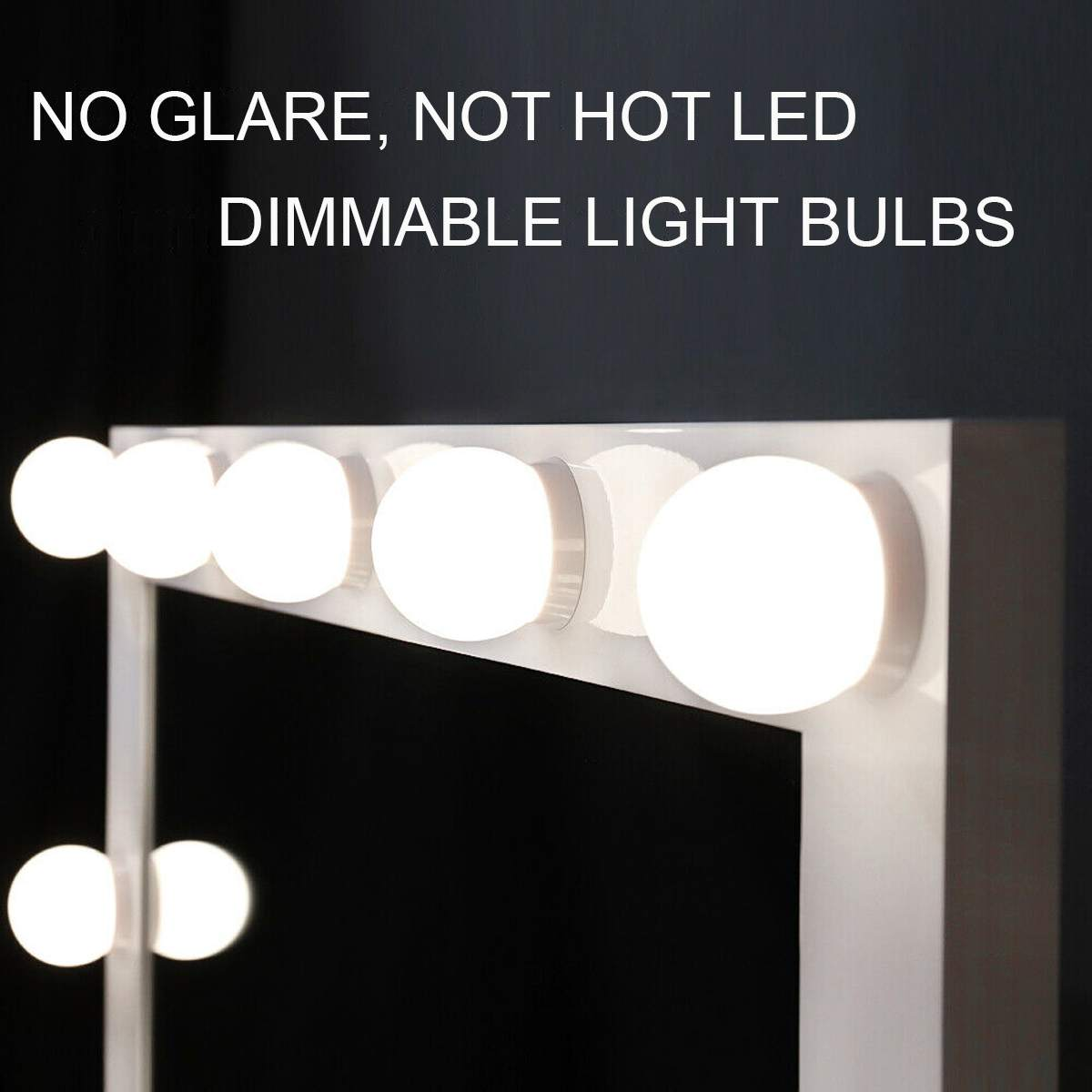 Hollywood Makeup Mirror Vanity Lighted Cosmetic Mirror with 14 LEDs Lights For Tabletop Bathroom Beauty Mirror Dressing Room