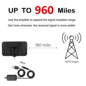 Image 2 - 960 miles intérieur HD antenne numérique antenne de télévision amplificateur de signal récepteur numérique HD antenne de télévision 4K HD