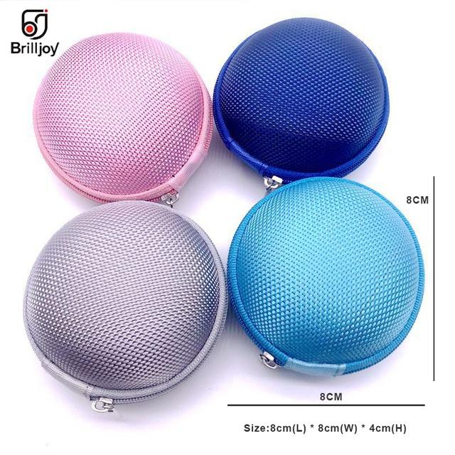 Brilljoy 1PC étui pour casque Portable casque sac Mini boîte de rangement écouteur SD TF carte pièce sac de rangement écouteur accessoire