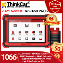 "THINKCAR THINKTOOL Pros auto Diagnostic Tool 10"" Full System ADAS OBD2 Code Scanner 28 Reset Function online Program pk x431 V+"