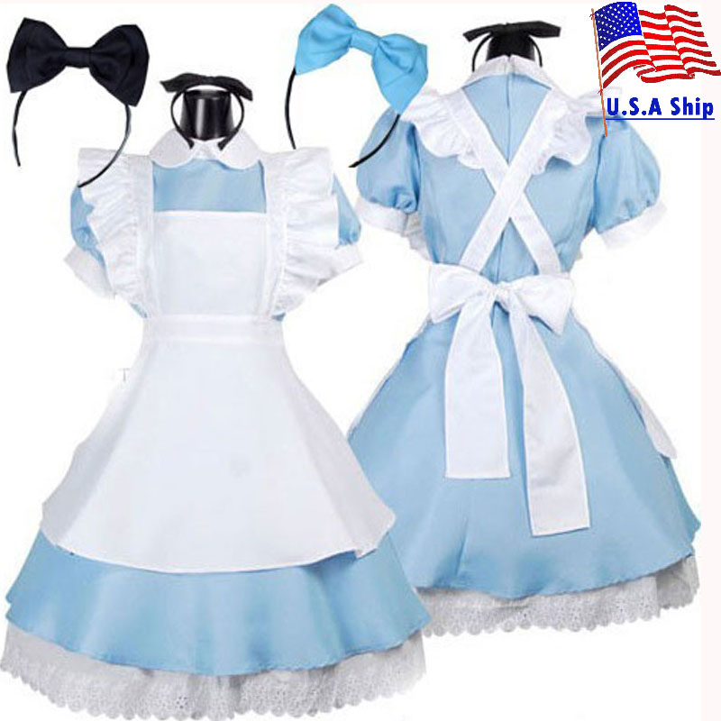 Umorden Alice In Wonderland Costume Lolita Dress Maid Cosplay Fantasia Carnival Party Halloween Costumes For Women