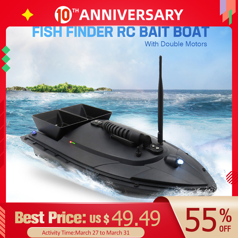Flytec 2011-5 / V007 / V500 Electric Fishing Bait RC Boat 500M Remote Fish Finder 5.4km/h Double Motor Toys Kit / RTR Version