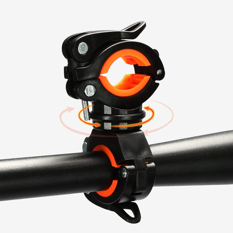 360 Degree Rotatable Bicycle Flashlight Holder Bike Lantern Mount Stand Bracket Clamp Quick Release LED Torch Lamp Clip Grip
