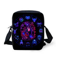HaoYun Fashion Womens Messenger Bags 12 Constellations Prints Pattern Black Crossbody Satchels Cartoon Girls Flaps