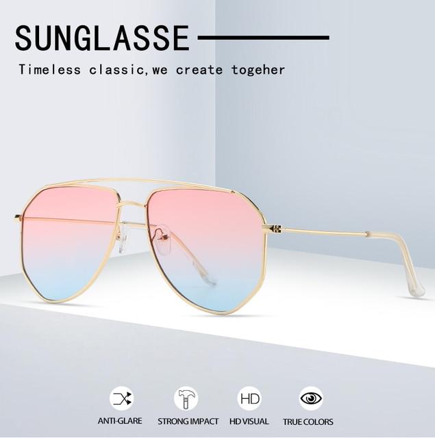 Классические солнцезащитные очки авиаторы yameize в металлической