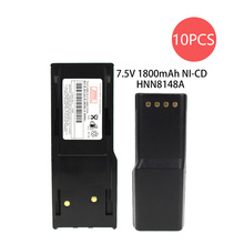 10X HNN8148 Battery for Motorola Radius P110 Two-Way Radio (1800mAh, 7.5V, NI-MH)
