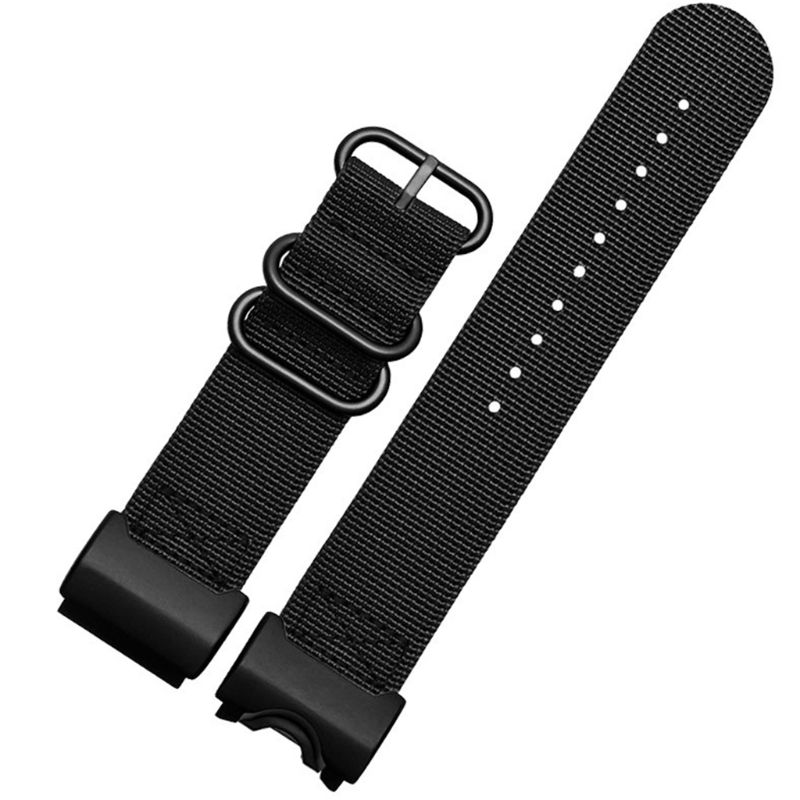 1Set Wear-resistant Nylon Watchband Wrist Strap Replacement for Casio G-Shock GWG 100GB 1000 1000GB Smart Watch Accessories image